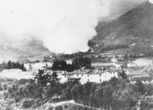 Storia_Valdagno Incendi delle contrade Tomba e Zovo di Castelvecchio 5-7-1944