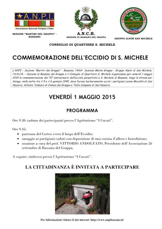 Manifesto San Michele 2015