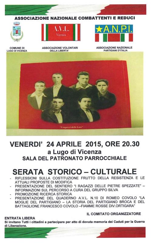 manifesto serata storico-culturale