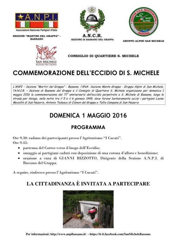 Manifesto commemorazione di San Michele