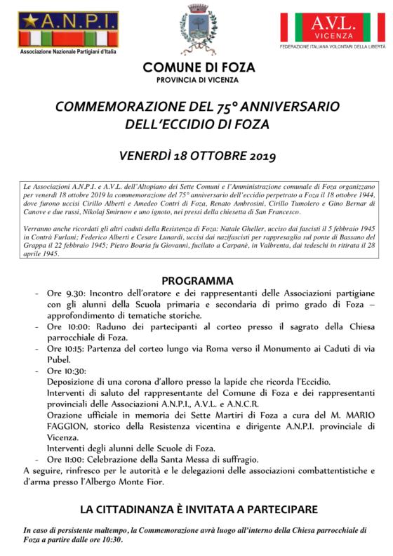 Manifesto Foza 2019